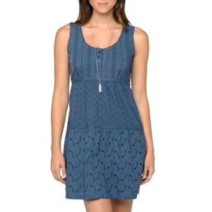 PrAna Kendall blue eyelet sleeveless summer dress